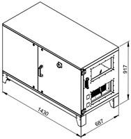 Ruck ETA luchtbehandelingskastmet tegenstroom en elektrisch warmteregister - rechts - 780m³/h (ETA K 600H EO JR) -2
