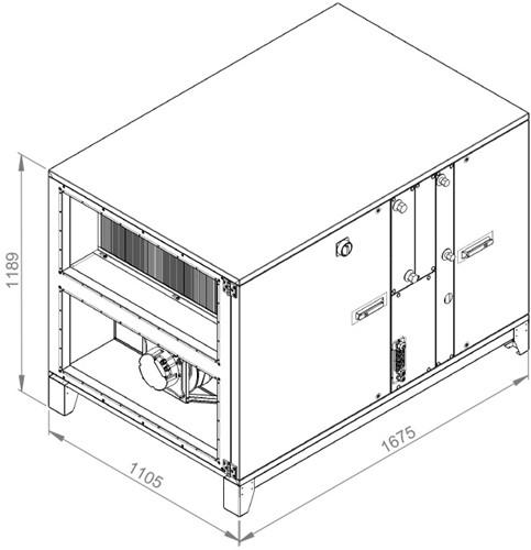 Ruck ROTO luchtbehandelingskast met warmtewiel - PKW koeler 3730m³/h (ROTO K 2800H WK JR)-2