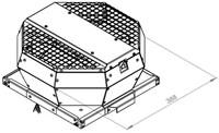 Ruck metalen dakventilator met EC-Motor en opendraaiende ventilatie-unit 610 m³/h (DVA 190 ECP 31)-2