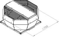 Ruck metalen dakventilator met EC-Motor en opendraaiende ventilatie-unit 2750 m³/h (DVA 355 ECP 31)-2