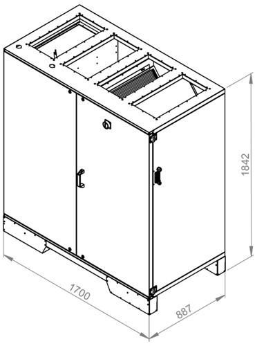 Ruck ETA luchtbehandelingskast met tegenstroom en PWW verwarmer 3045m³/h (ETA K 2400V WO JR)-2