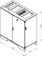 Ruck ETA luchtbehandelingskast met tegenstroom en elektrisch warmteregister 2990m³/h (ETA K 2400V EO JR)