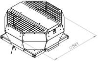 Ruck metalen dakventilator met opendraaiende ventilatie-unit 1600 m³/h (DVA 315 E4P 31)-2