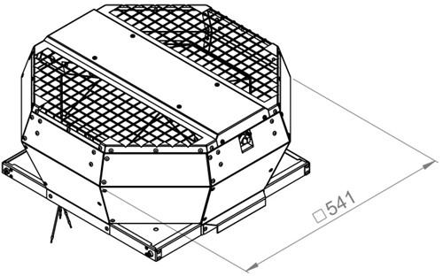 Ruck metalen dakventilator met opendraaiende ventilatie-unit 1100 m³/h (DVA 280 E4P 31)-2