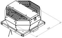 Ruck metalen dakventilator met opendraaiende ventilatie-unit 800 m³/h (DVA 220 E2P 31)-2