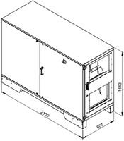 Ruck ETA luchtbehandelingskast met tegenstroom en PWW verwarmer - rechts - 3005m³/h (ETA K 2400H WO JR) -2