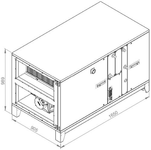 Ruck ROTO luchtbehandelingskast met warmtewiel - DV koeler 2500m³/h (ROTO K 1700 WD JR)-2