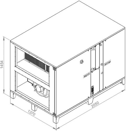 Ruck ROTO luchtbehandelingskast met warmtewiel - DV koeler 5890m³/h (ROTO K 4200 WD JR)