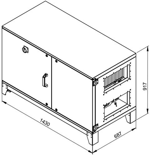 Ruck ETA luchtbehandelingskast met tegenstroom en PWW verwarmer - links - 780m³/h (ETA K 600H WO JL) -2
