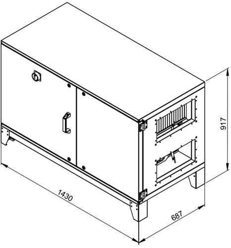 Ruck ETA luchtbehandelingskast met tegenstroom en elektrisch warmteregister - Links - 780m³/h (ETA K 600H EO JL) -2