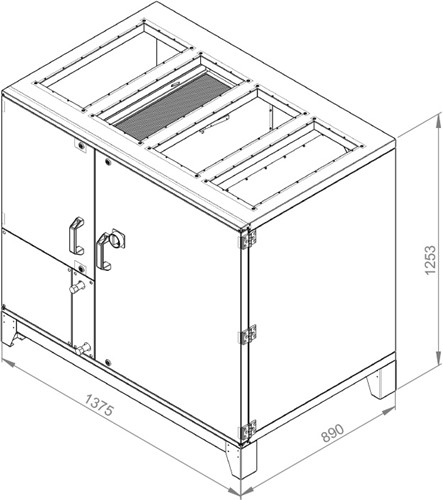 Ruck ROTO-V luchtbehandelingskast met warmtewiel 2690m³/h (ROTO K 1700 V WOJL)