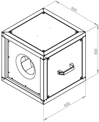 Ruck boxventilator met draaistroommotor buiten de luchtstroom 2830 m³/h (MPC 280 D2 T30)-2