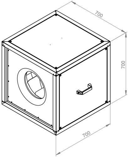 Ruck boxventilator met draaistroommotor buiten de luchtstroom 7125 m³/h (MPC 450 D4 T30)-2