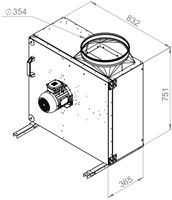 Ruck boxventilator met draaistroommotor 4450 m³/h (MPS 400 D4 30)-2
