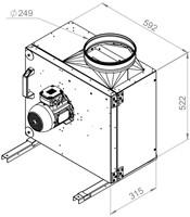 Ruck boxventilator met draaistroommotor 2730 m³/h (MPS 250 D2 30)-2