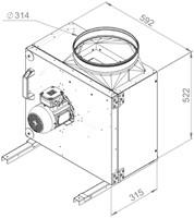 Ruck boxventilator met draaistroommotor 3350 m³/h (MPS 280 D2 30)-2