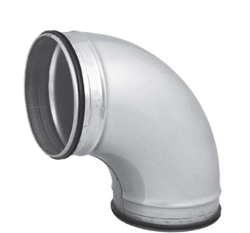 Spiro-SAFE bocht 180 mm 90 graden (sendz. verz.)