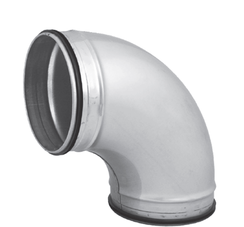 Spiro-SAFE bocht 200 mm 90 graden (sendz. verz.)