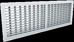 Wandrooster aluminium dubbelvoudig instelbaar - met klemveren - 600x300