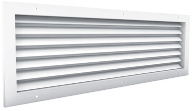 Doorvoerrooster aluminium zichtdicht - met tegenkader en schroefgaten - 200x200 (AF981)