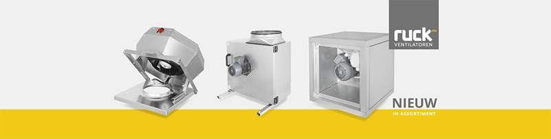 Uitbreiding assortiment Ruck Ventilatoren GmbH 2018