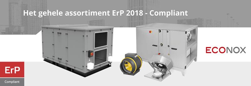 Het complete assortiment van Econox ErP 2018-compliant
