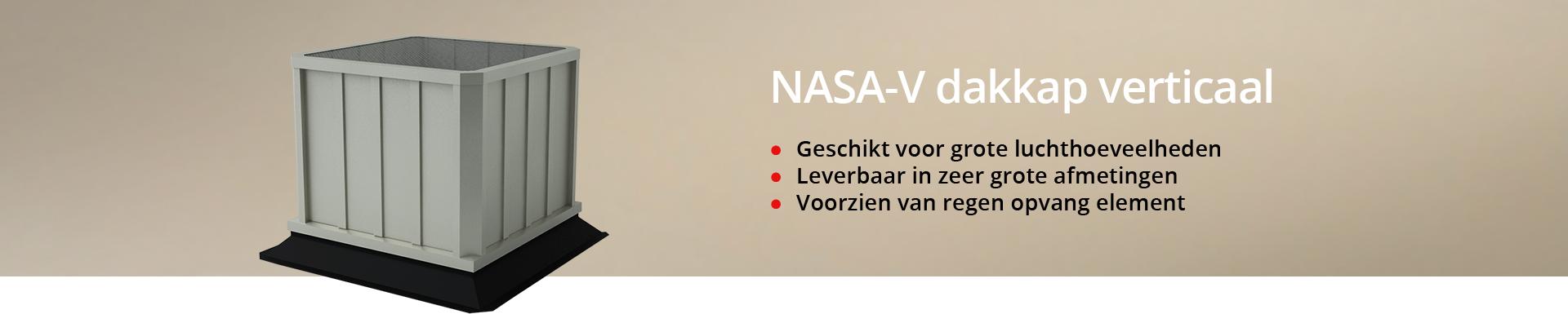 NASA-V dakkap verticaal
