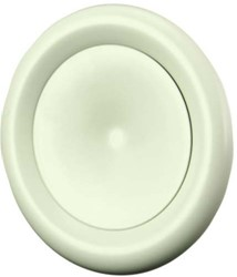 Ventilatie toevoer ventiel metaal Ø 160 wit met klemveren - DVSC-P160
