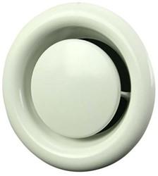 Ventilatie afvoer ventiel metaal Ø 160 mm wit met montagebus - DVS160