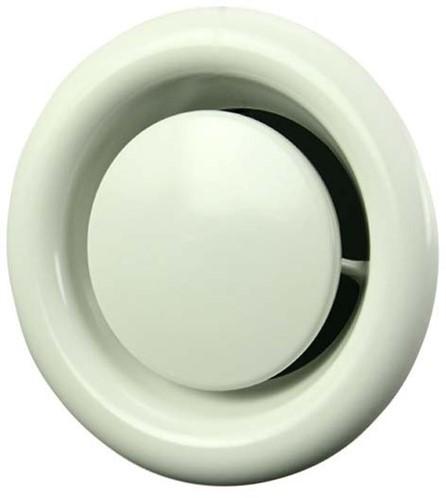 Ventilatie afvoer ventiel metaal Ø 100 mm wit met montagebus - DVS100 (DVS100)