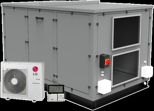 Luchtbehandelingskast CLIMA COMBI-DX 3000 (Plug-n-play met warmtepomp) 3000 m3/h