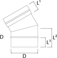 EW diameter  150 mm bocht 30 gr I316L (D0,5)-2