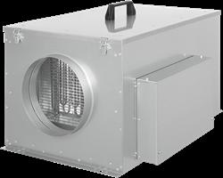Compacte luchttoevoerunit met verwarmingsbatterij