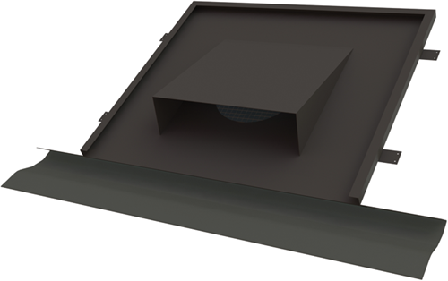 Thermoduct vlakke horizontale dakdoorvoer Ø 200 mm hellend dak