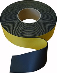 Isolatietape neutraal 75mm - zwart