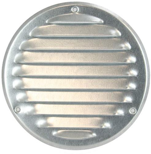 Ventilatierooster metaal rond zink Ø 200 mm (MR200ZN)