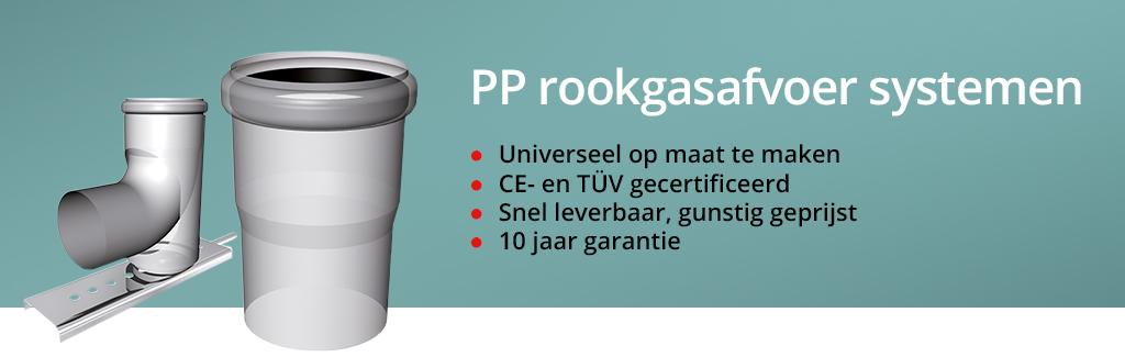 PP rookgasafvoer systemen universeel op maat te maken