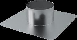 Plakplaat voor dakdoorvoer Ø 180 mm (aluminium gelast)