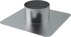Plakplaat voor dakdoorvoer Ø 400 mm (aluminium gelast)