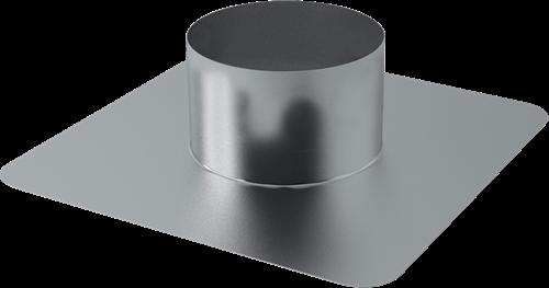 Plakplaat voor dakdoorvoer Ø 125 mm (aluminium gelast)