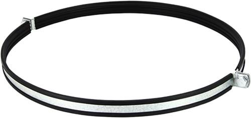 Metalen beugel 1250 mm met rubber (sendz. verz.)