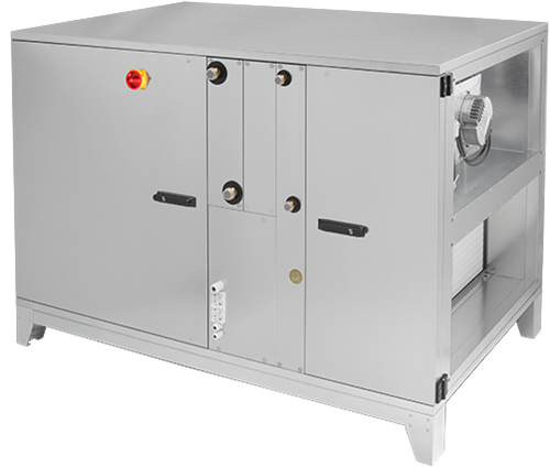 Ruck ROTO luchtbehandelingskast met warmtewiel - links - zonder voorverwarmer - DV koeler - 2620 m³/h (ROTO K 1700 H ODJL)
