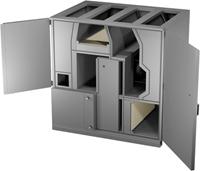 Ruck Roto-V luchtbehandelingskast open