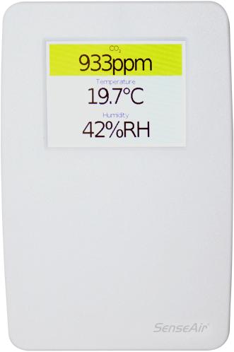 Complete CO2 monitor en regelaar met display (TSENSE-D)