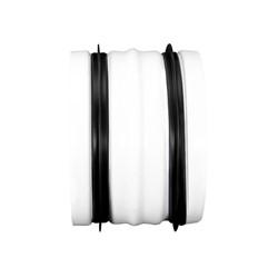 Spiro-SAFE verbindingstuk voor buis wit 125mm RAL9010 (staal)