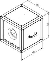 Technische tekening ruck boxventilator