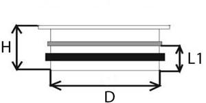 Thermoduct deksel met vlakke tuit geisoleerd