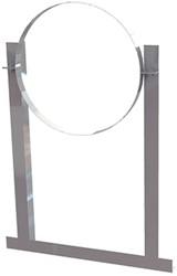 Aluminium dakbeugel voor buis Ø 125 mm