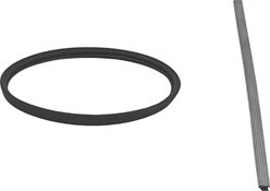 Afdichtingsrubber diameter  250 mm SILICONE