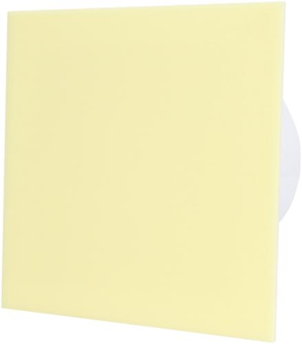 Badkamer ventilator diameter 100 mm met Timer en Vertraagde start - kunststof front beige